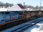 BNSF 4173 and a Unknown KCS Motor.