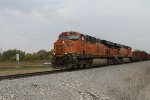 BNSF 7435 leads a sb freight out of elsberry mo.