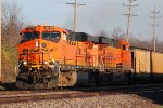 BNSF 5775 takes a loaded coal sb.