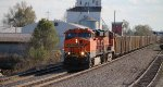 BNSF 5775 leads a empty ucex nb past old monroe.