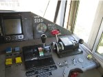 BNSF 8185 Control stand.