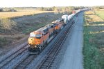 BNSF 6658 Leads a EB stack train into Baring Mo.