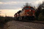 BNSF 4198 heads up a TULGAL on the Cuba Sub.
