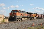 BNSF 1049 Leads the 836 local into the siding.