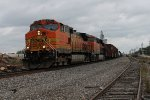 BNSF 5255 heads nb with a freight train.