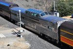 Santa Fe dome car 508, part of Reno Fun train, at Long Ravine (Colfax), CA