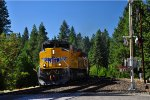 UP 8775 leads eastbound train through Alta, CA