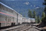 Eastbound Cal Zephyr descends Coldstream Canyon enroute to Truckee, CA