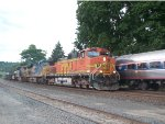 BNSF 4523 Meets Amtrak 48