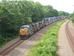 CSX 995 (New CSX Boxcar Gevo) Leads Q004 East