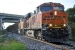 Eastbound coal loads exit siding
