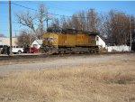 Union Pacific AC44CWCTE locomotive no. 6155 at Salina, Kansas