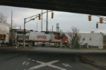 Jip shot of NS 280 as he scurries under Hohman Ave