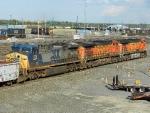 BNSF GE C44-9W's 4523 & 4109 with CSXT GE AC4400CW 239