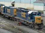 CSXT EMD GP40-2 6406 & EMD Road Slug 2200