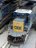 CSXT EMD SD40-3 4017