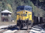 CSX 522 shoving a U823 coal drag
