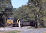 CSX 597 westbound with empty hoppers