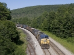 CSX 7844 nearing the summit of the Alleghenies