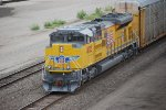 UP 8775 pulls a Auto Rack Train through the BNSF Argentine Yard as the only power :))).  Brand New SD-70ACe!!!