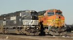 BNSF 4595 and NS 6763