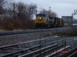 CSX 7696 & CSX 7839 heads WB after coming out of the yard