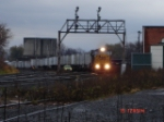 CSX Trackcar 0291 sits on the main with Forman Cordelle inspecting track and WB TOFC led by CSX 8746 passes