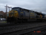 CSX 644 leads the S109 WB on the #1 Track