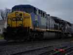 CSX 270 & HLCX 6300 head WB as the Q273 on the #2 Track