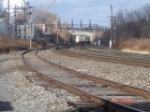 CSX 420 leads a stack train EB on the #2 Track