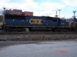 CSX 8661 (SD50) runs back-to-back with CN 2446 and nose-to-nose to CSX 8663