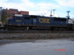 CSX 8663 (SD50) WB on the New Lead