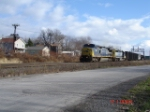 CSX 7385 & CSX 8110 make up this WB Q393