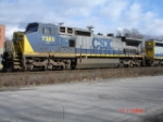 CSX 7385 (C40-8W) WB on the #2 Track with the Q393
