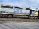 CSX 8110 (SD40-2) runs long nose forward (backwards) on the Q393