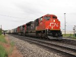 CN 8929 & 2647 head east on Track 1 with M394