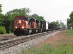 A trio of SD75I's lead M397 westward