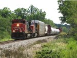 CN 2502 & 2151 head north up the Holly Sub with M371