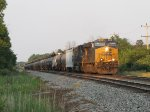 Done quickly with its work in Port Huron, CSX 860 leads D710 back west toward Flint