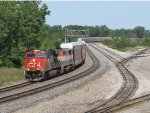 CN 2334 rolls west on the point of M393