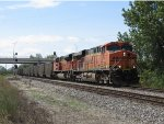 BNSF 5793 & 9212 roll east on Track 1 with N903