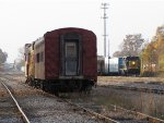 As equipment stored on the JAIL looks on, CSX 4036 builds tonight's D707 at the east end of Ensel Yard