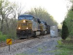 Heading timetable northward, CSX 758 & 798 make track speed with E409-02 over the Hemlock detector