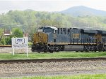 995 helps the Erwin Terminal sign show off CSX's new logo