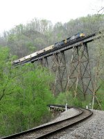 CSX 600 & 400 soar over Copper Creek Viaduct with G938-02
