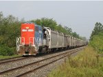 SCRF 6415 crawls east on the CF&E with a lengthy FWDC