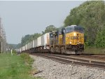 CSX 5477 leads Q010-05 east over the slightly undulating landscape