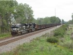 NS 8007 & 1018 power loaded coal train 854 west