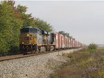 CSX 5415 & 914 pick up speed heading south with over 8000 feet stretched out behind them