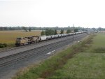 UP 5980 & 6876 leads K683 west with ethanol empties